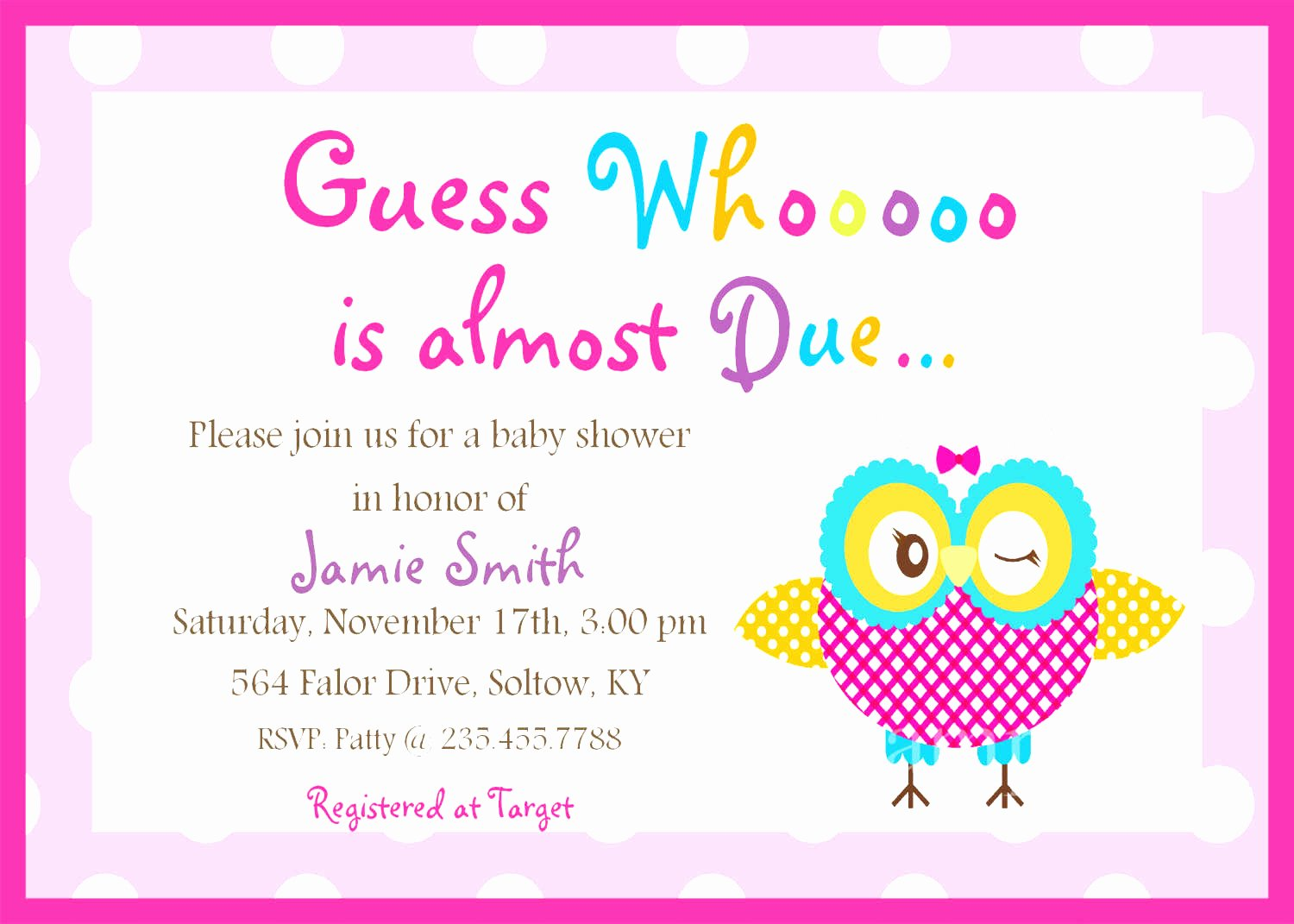 Baby Shower Menu Template Free Filename