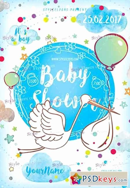 Baby Shower Psd Flyer Template Free Download Shop