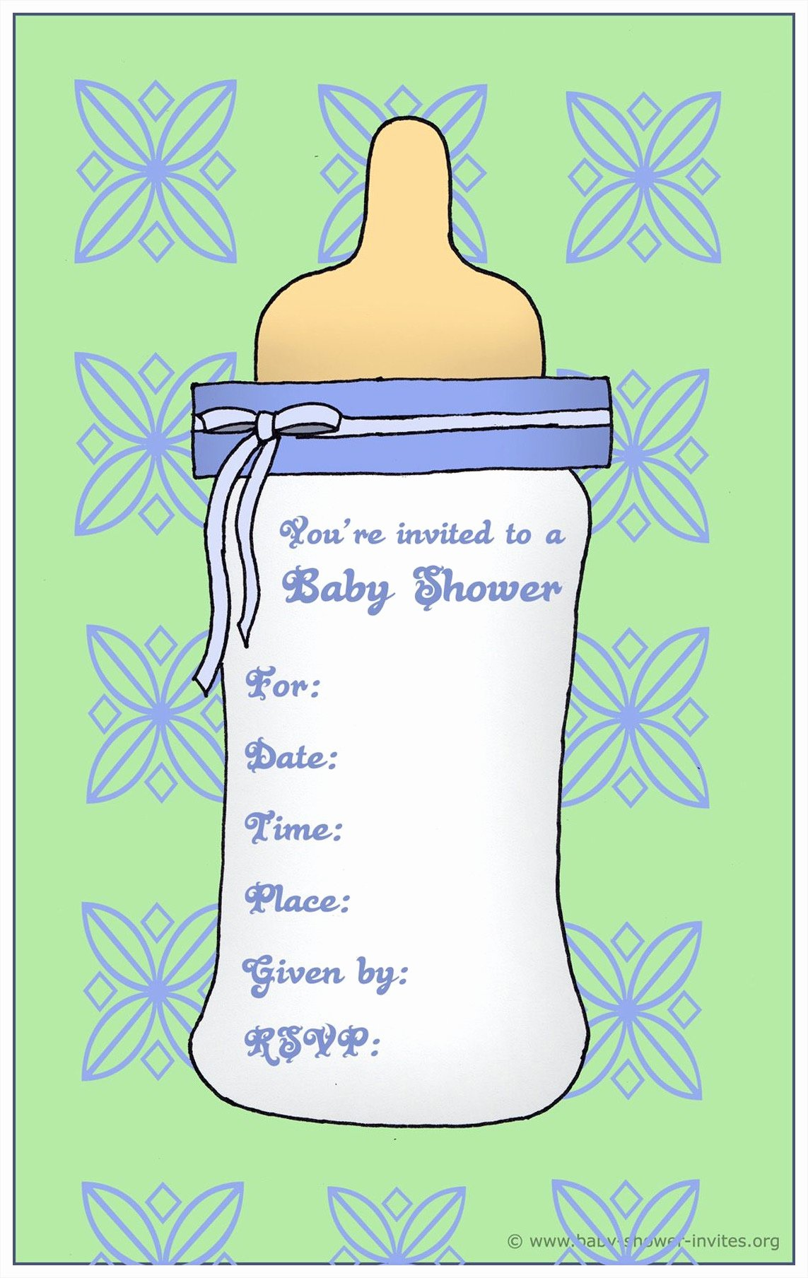 Baby Shower Templates for Word Mughals