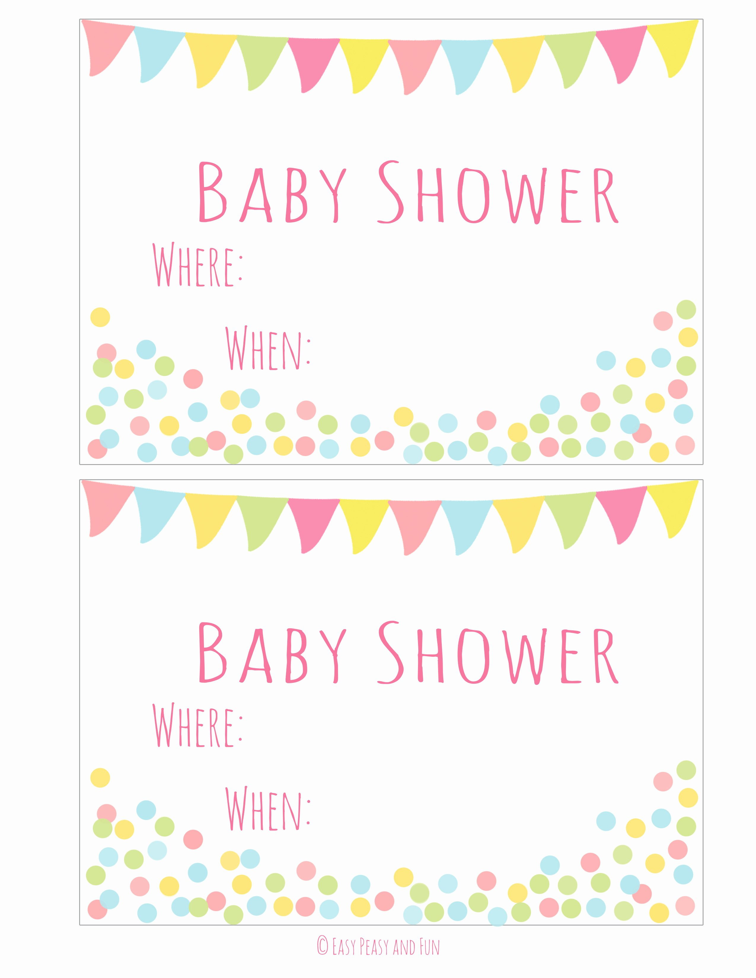 Baby Shower Templates Printable