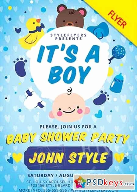 Baby Shower V1 Psd Flyer Template Free Download