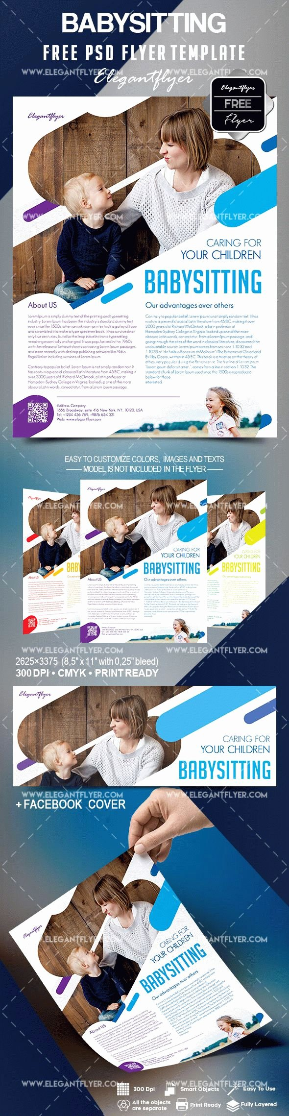 Babysitting Flyer Template Free – by Elegantflyer