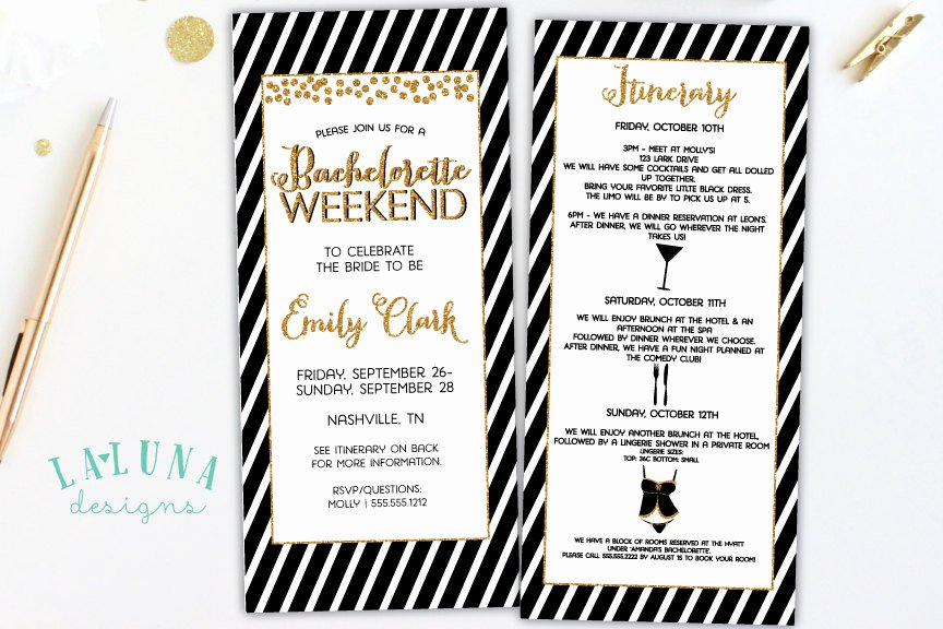 Bachelorette Party Agenda Template Bachelorette Party