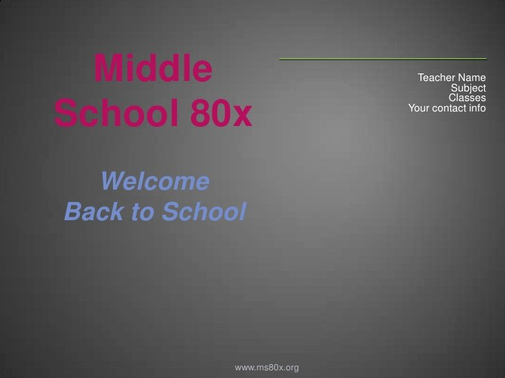 Back 2 School Powerpoint Template for Teachers