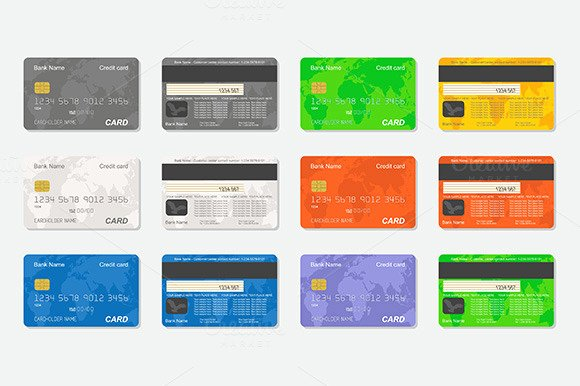 Back Blank Credit Card Template Designtube Creative