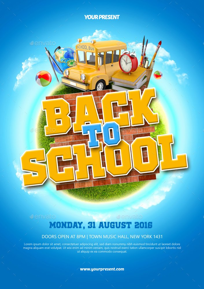 Back to School Flyer by Monogrph
