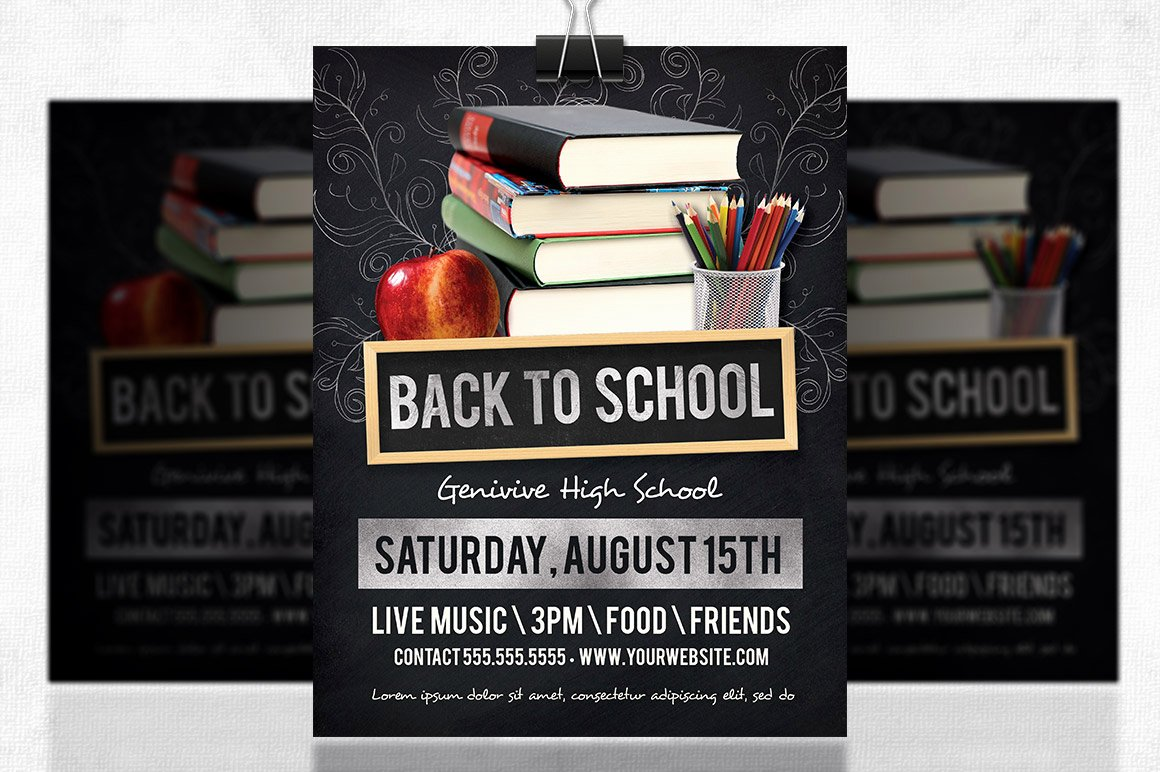 Back to School Flyer Flyer Templates On Creative Market