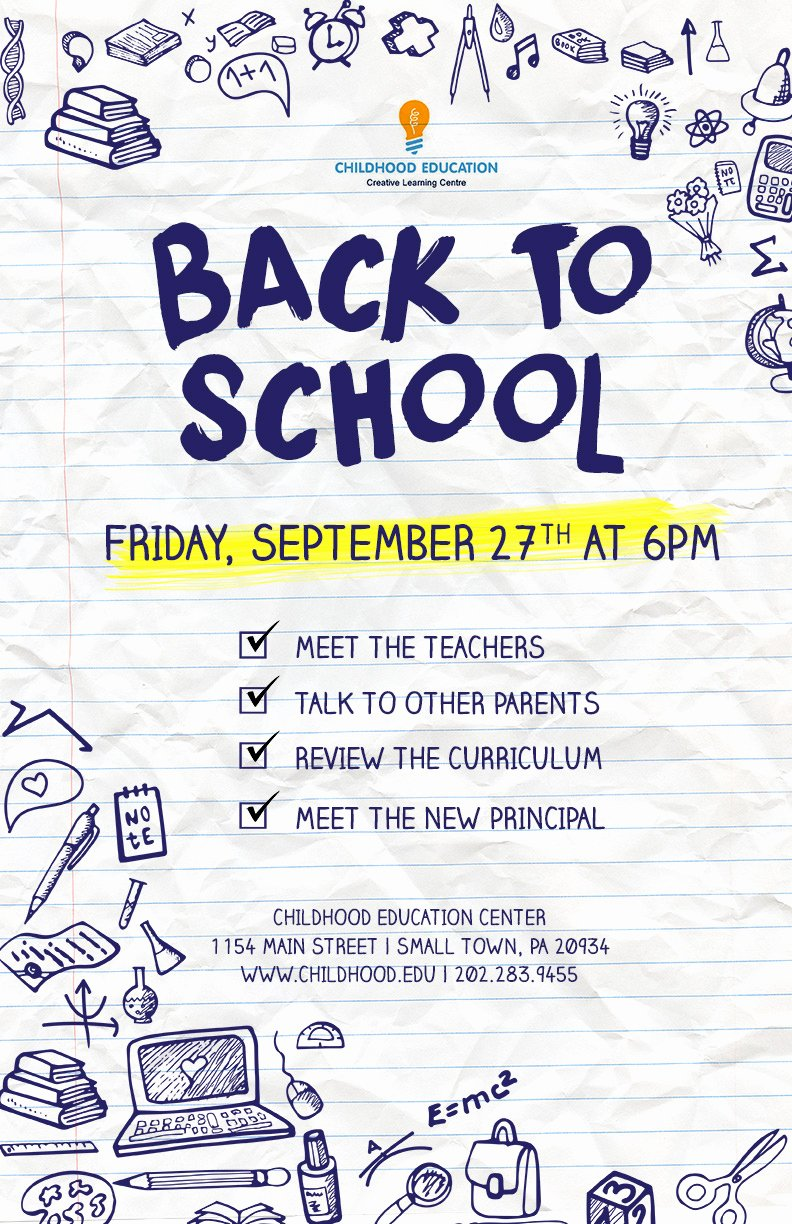 Back to School Flyer Psd Docx