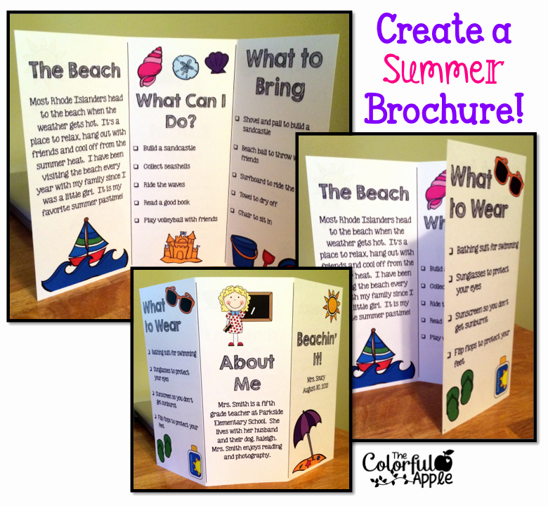 Back to School Idea Students Create A Brochure About