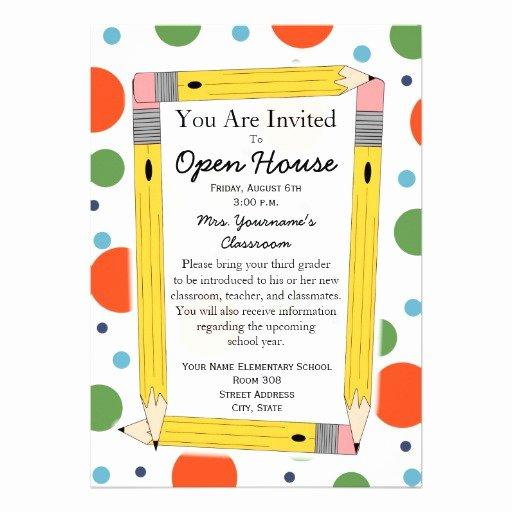 """Back to School Open House Invitation 5"""" X 7"""" Invitation"""