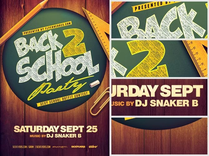 Back to School Party Flyer Template 4