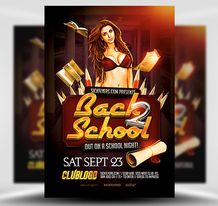 Back to School Party Flyer Template V1 Flyerheroes