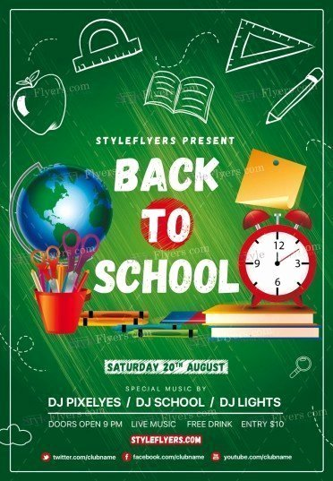 Back to School Psd Flyer Template Styleflyers