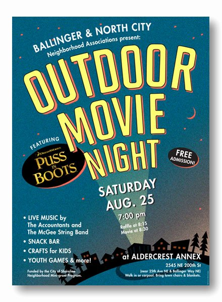 Backyard Movie Night All for the Garden House Beach