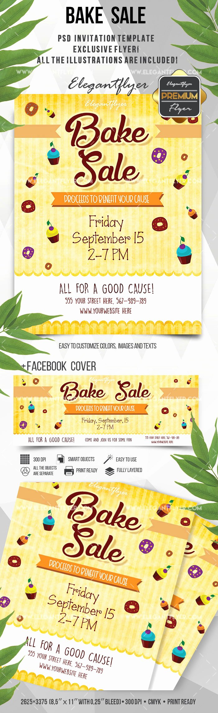 ​​bake sale flyer free invitation template