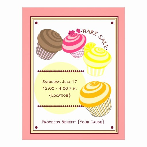 Bake Sale Flyer Cupcakes
