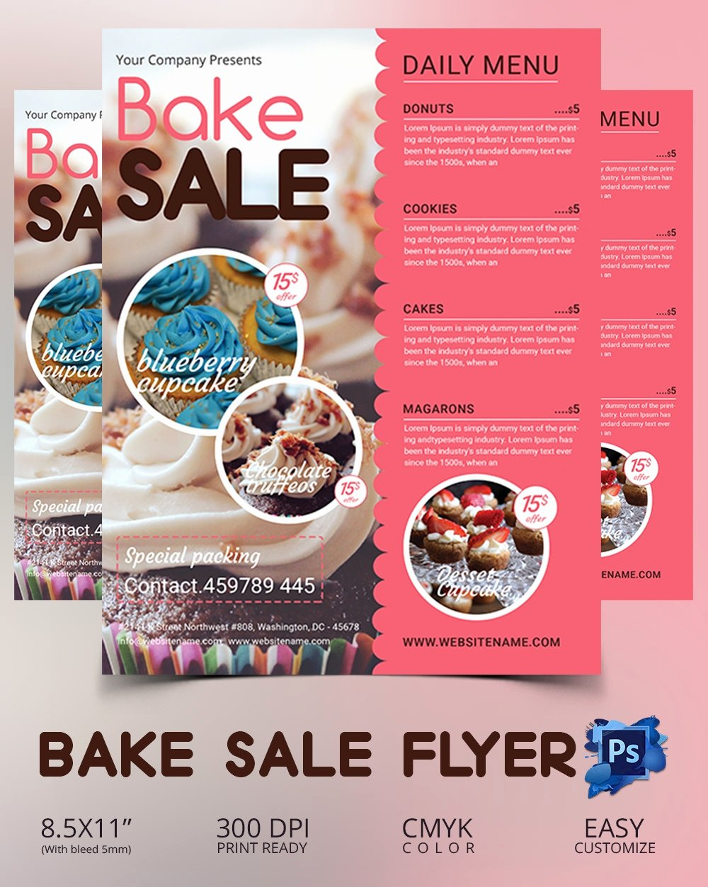 Bake Sale Flyer Template 34 Free Psd Indesign Ai