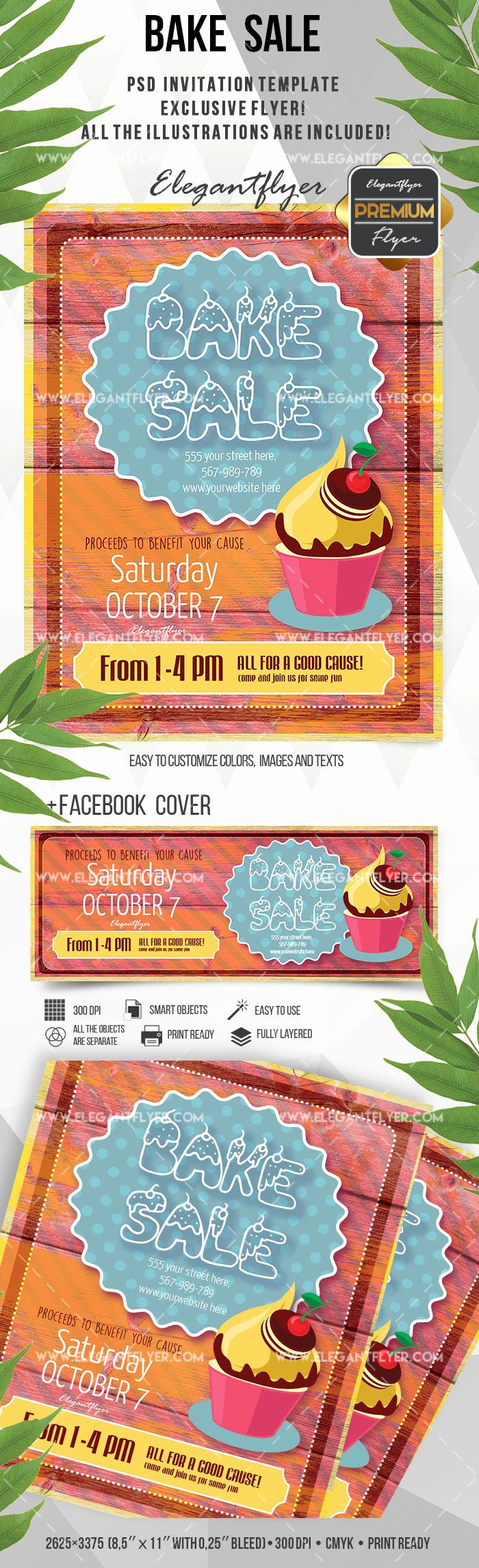 Bake Sale Flyer Template – by Elegantflyer