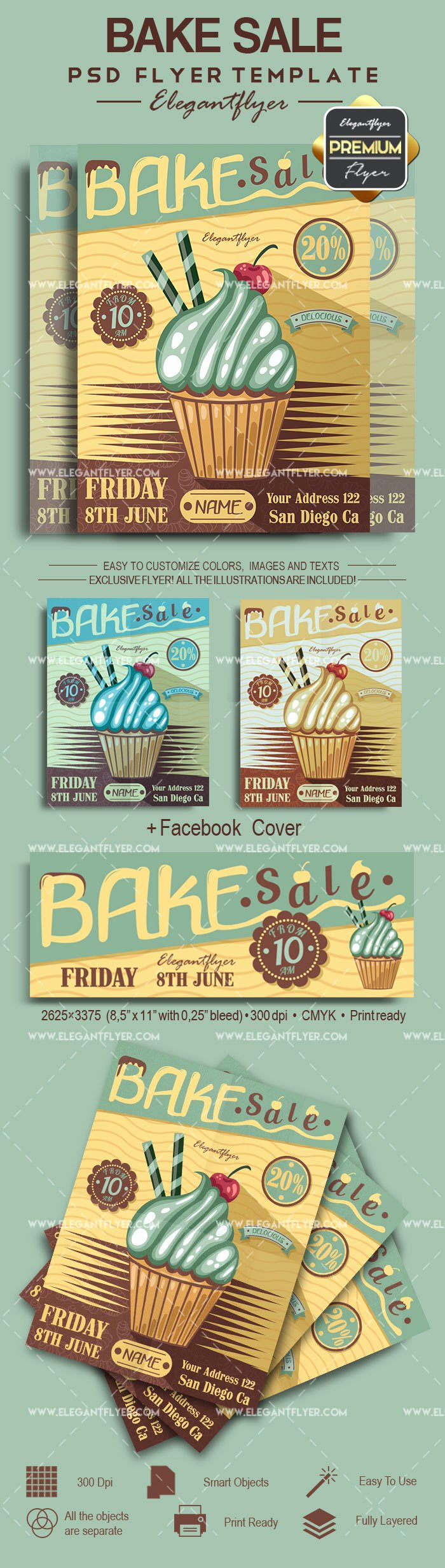Bake Sale Psd Poster – by Elegantflyer