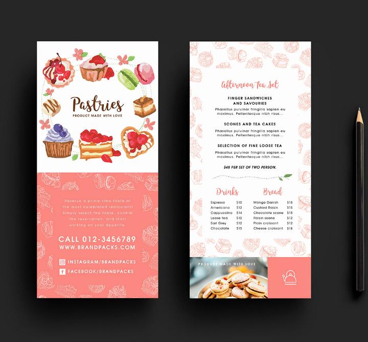 Bakery Flyer Templates Free Rack Card Free Rack Card