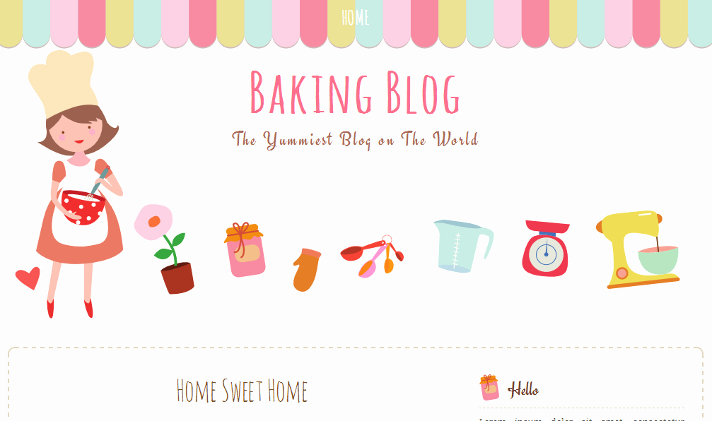 Baking Blog Free Blogger Template