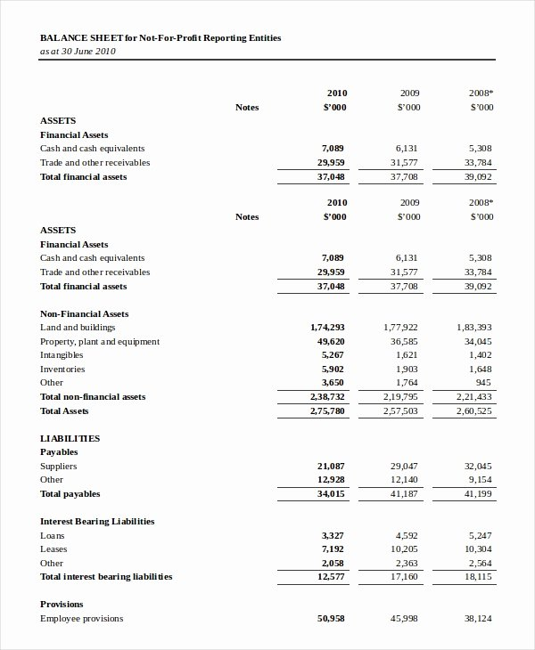 Balance Sheet 18 Free Word Excel Pdf Documents
