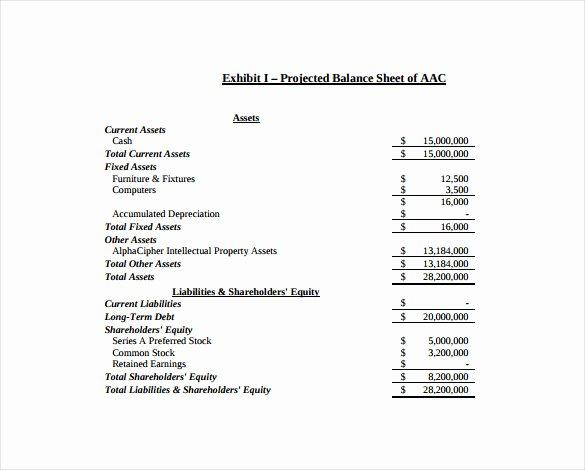 Balance Sheet Templates 18 Free Word Excel Pdf