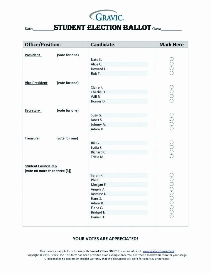 Ballots Template Prize Ballot Draw – Mcari