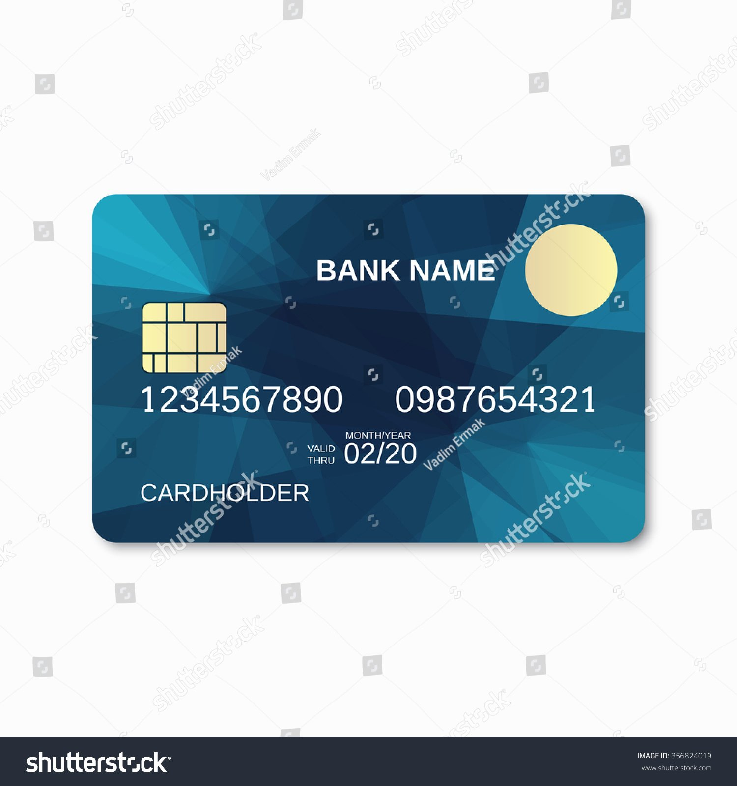 Bank Card Credit Card Discount Card Design Template