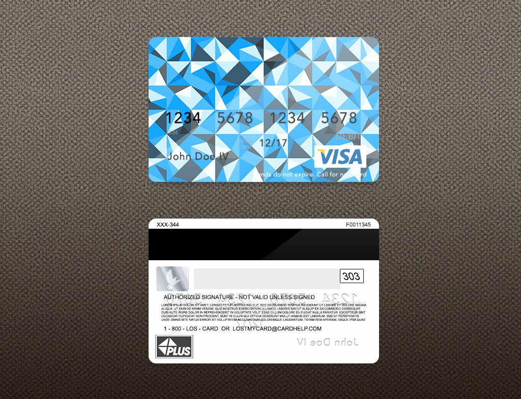 Bank Card PSD Template