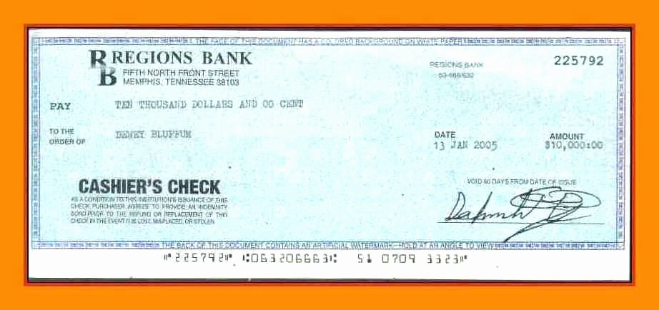 Bank Cashier Check Template Blank Cashiers