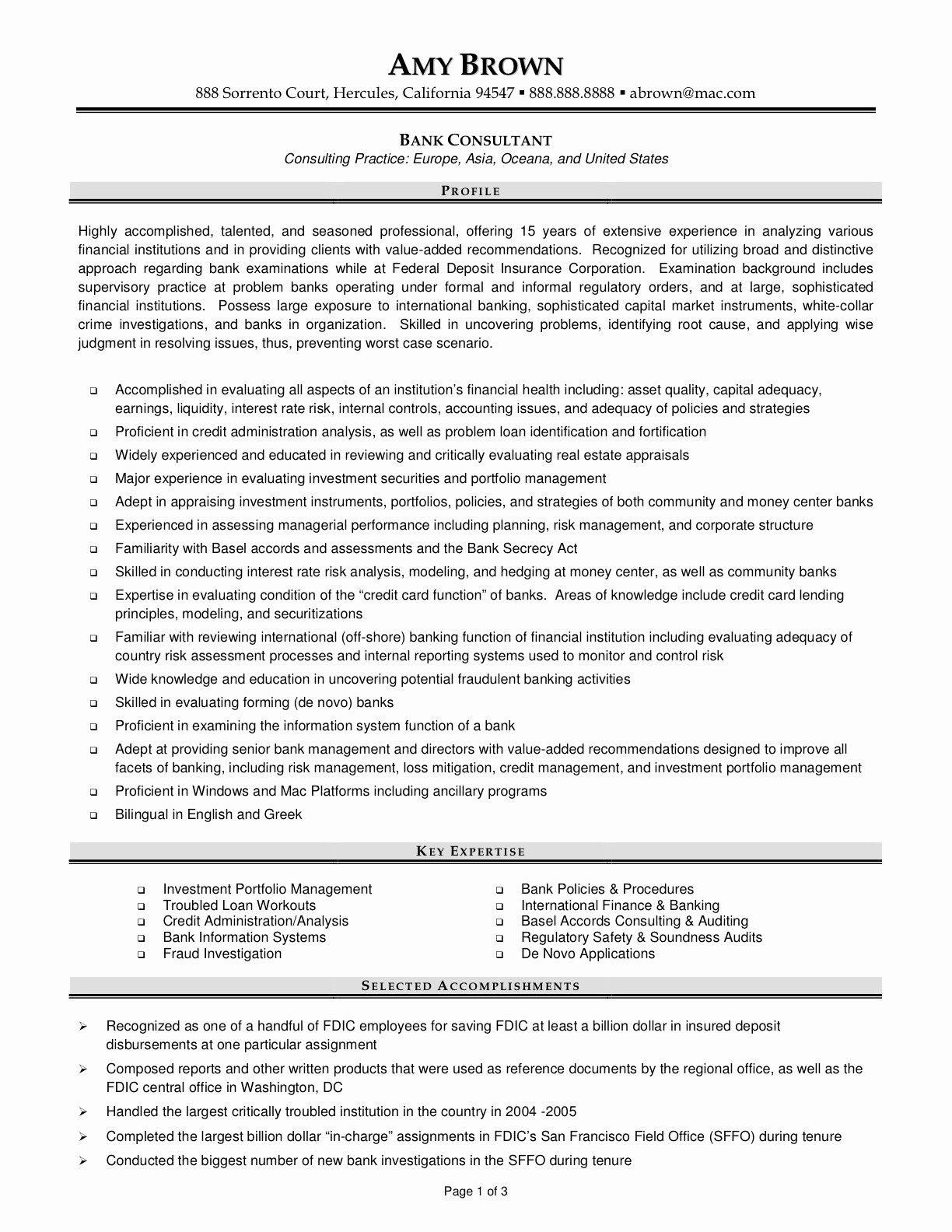 Bank Manager Sample Resume Talktomartyb
