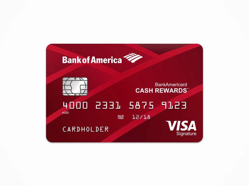 Bank Of America Cash Rewards Card Template Freebie
