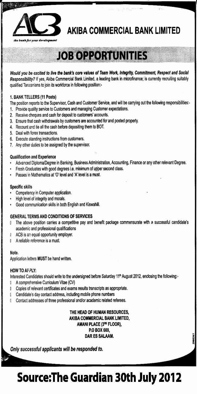 Bank Teller Job Description Resume Sample