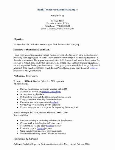 Bank Teller Responsibilities Resume