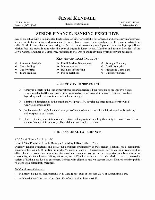 Banking Resume Objective O Banking