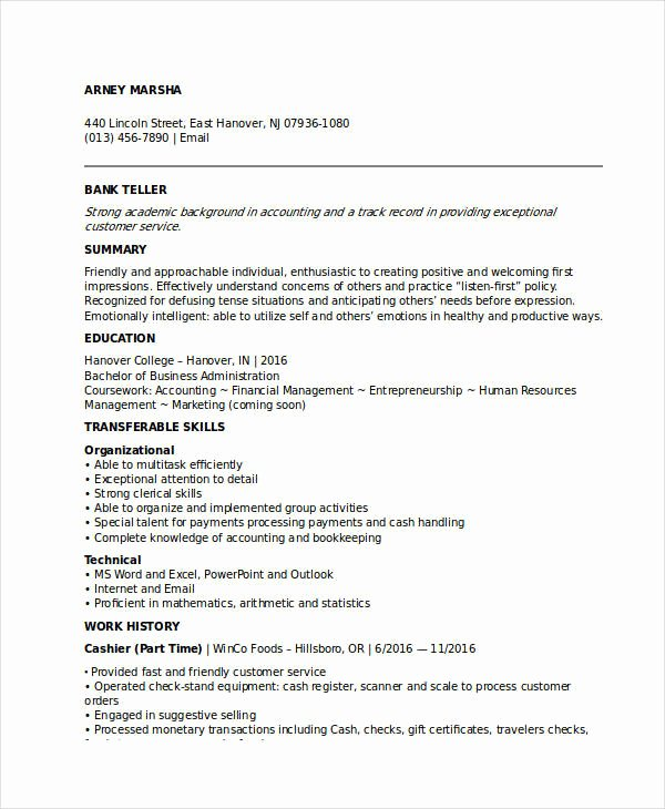 Banking Resume Samples 45 Free Word Pdf Documents