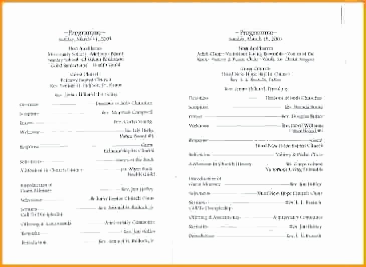 Banquet Program Sample Church Anniversary format