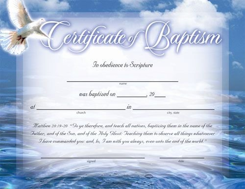 Baptism Certificates Free