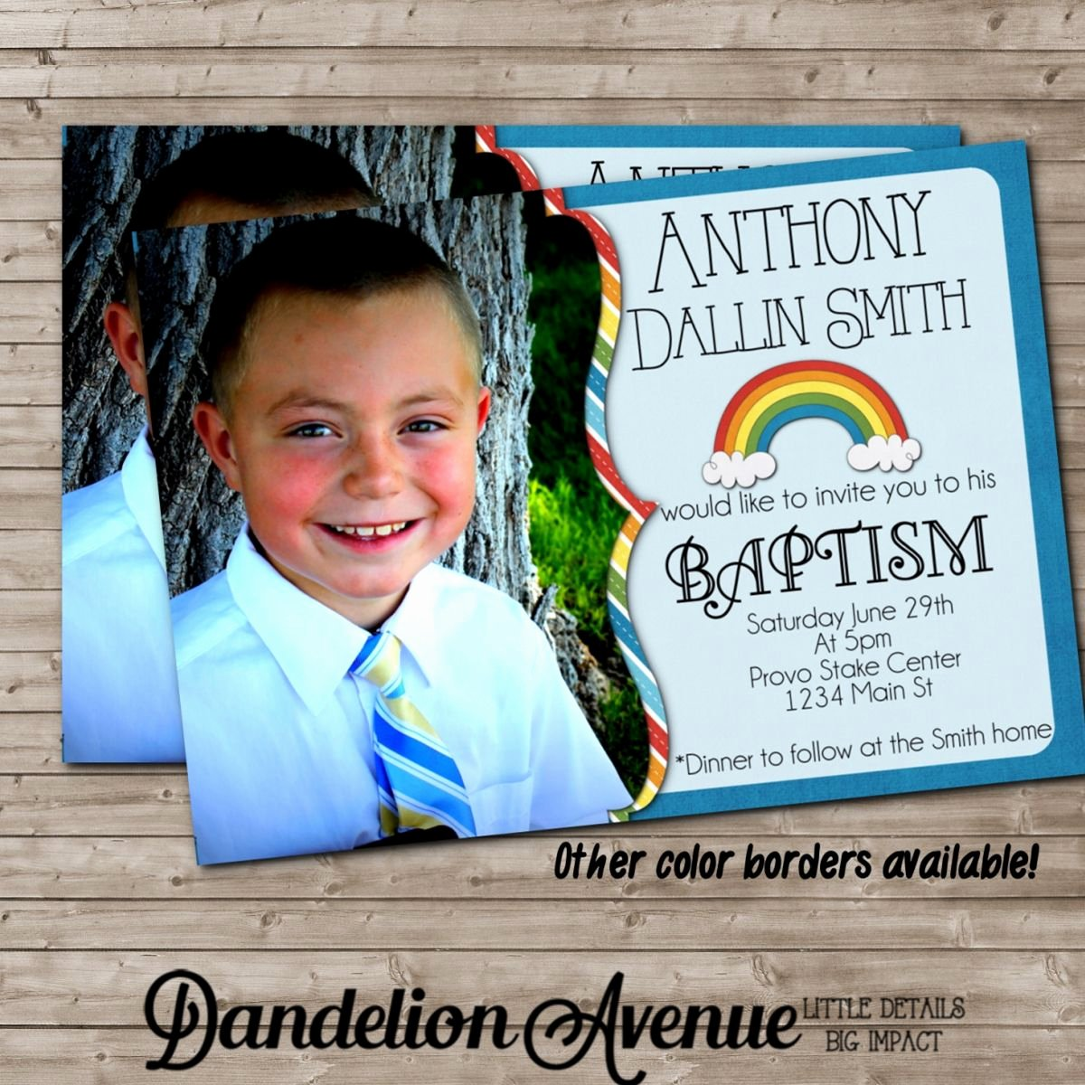 Baptism Invitation Lds Baptism Invitations Baptism