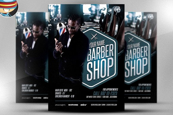 Barber S Shop Flyer Template Flyer Templates On Creative