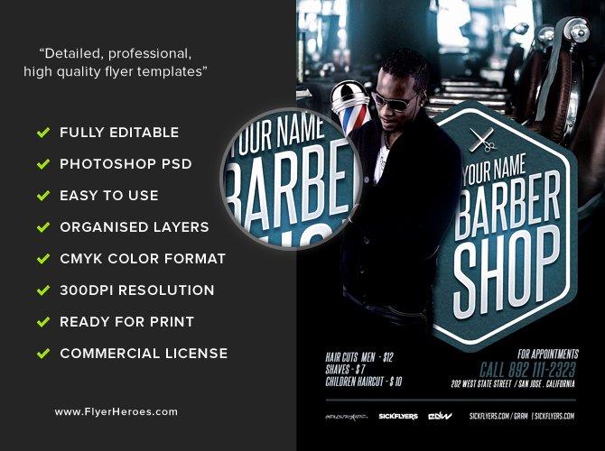 Barber S Shop Flyer Template Flyerheroes