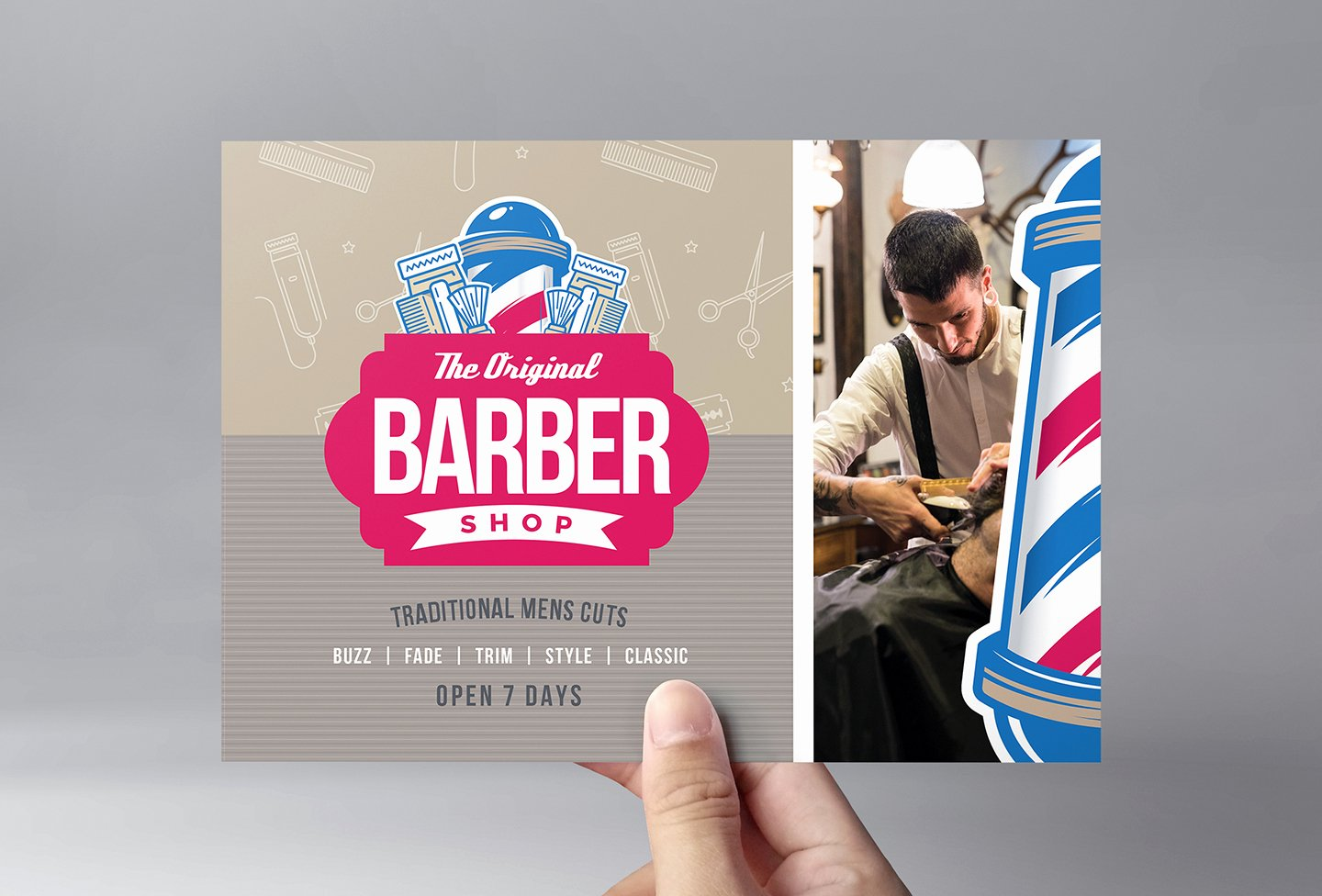 Barber S Shop Flyer Template In Psd Ai & Vector Brandpacks