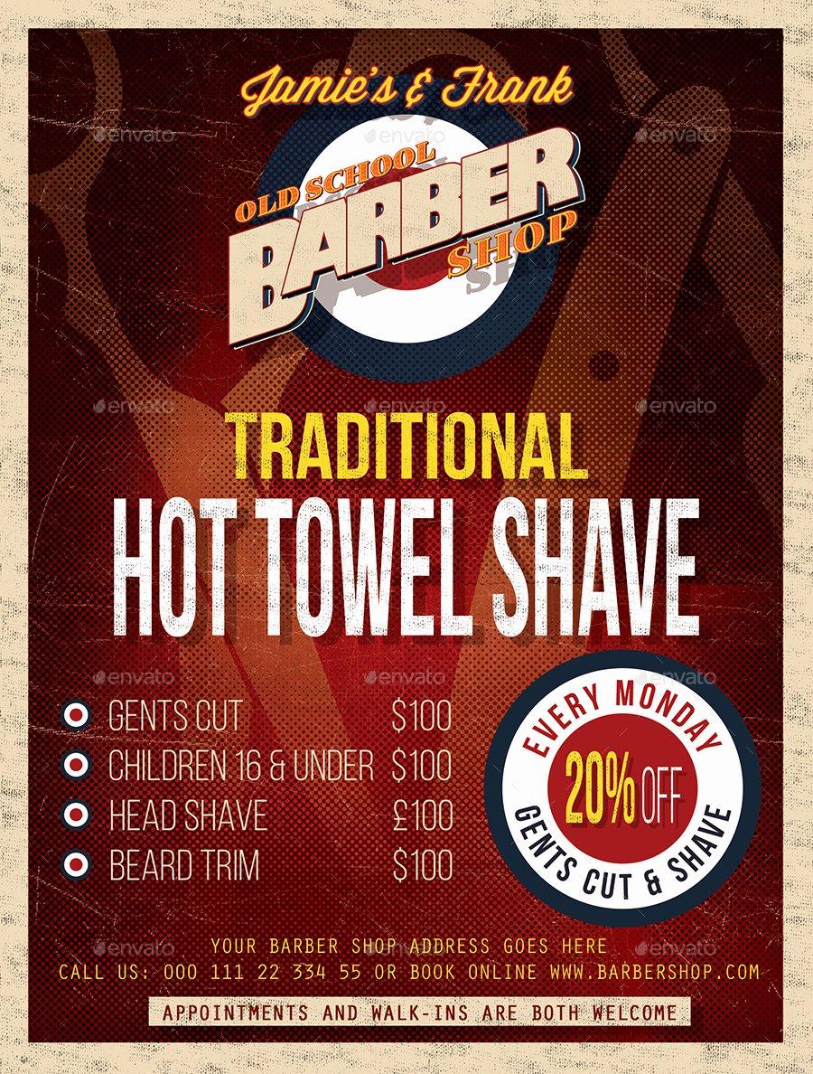 Barber Shop Flyer Template by Designroom1229