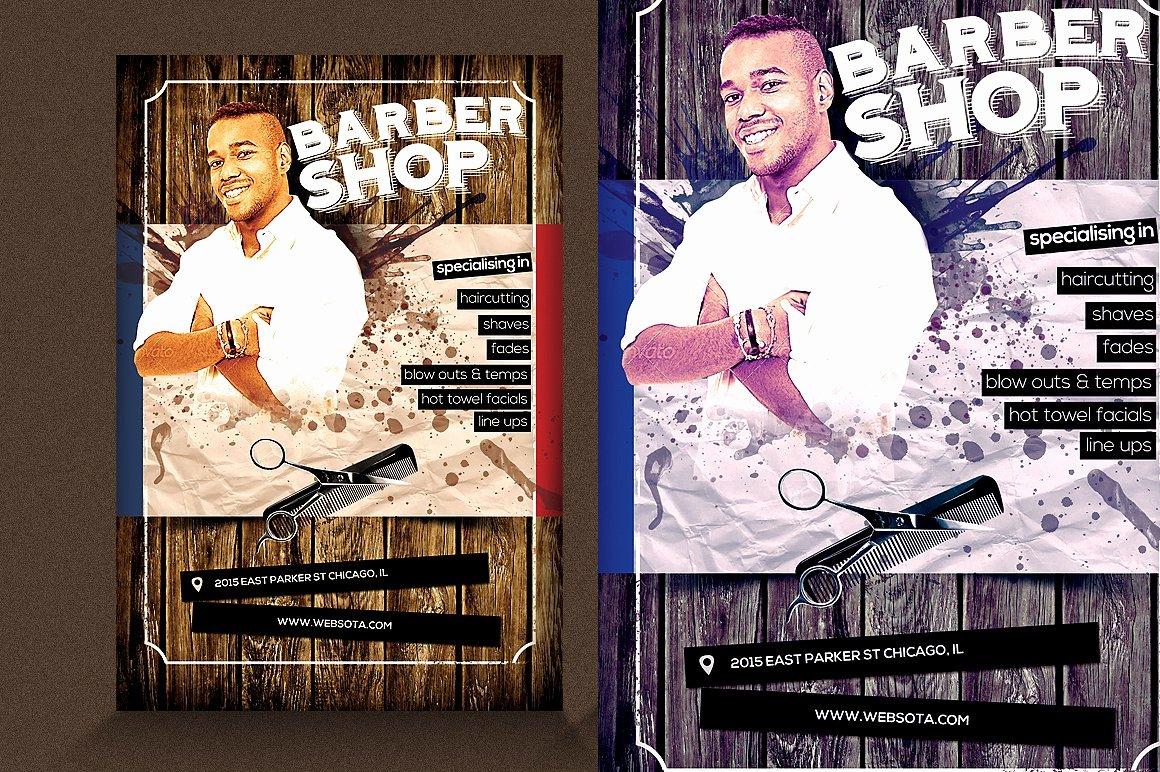 Barber Shop Flyer V1 Flyer Templates Creative Market