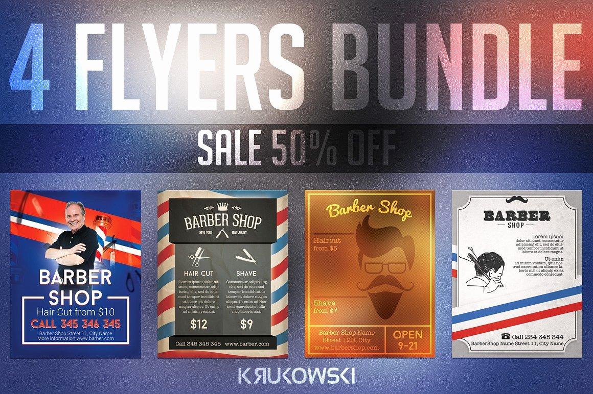 Barber Shop Flyers Bundle Templates Creative Market