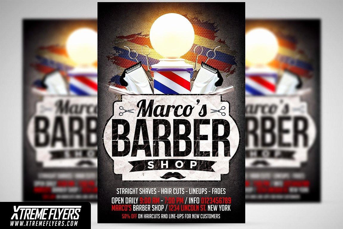Barbershop Flyer Template Flyer Templates Creative Market