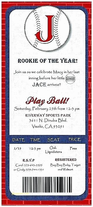 Baseball Baby Shower Invitations Invitation Templates New