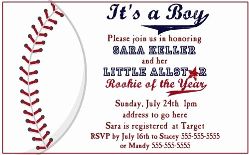 Baseball Baby Shower Invitations — Unique Baby Shower