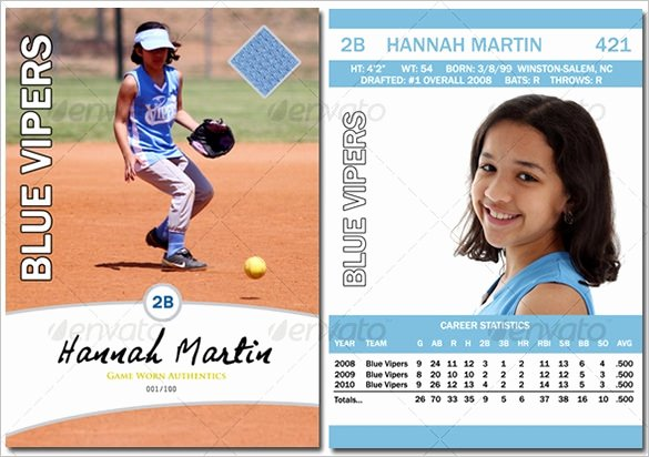 Baseball Card Template Free Invitation Template